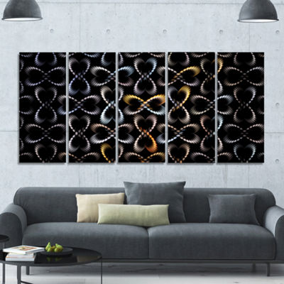 Yellow Pattern Of Butterflies Abstract Canvas ArtPrint - 5 Panels
