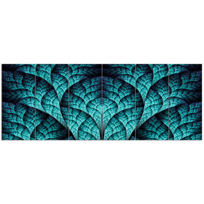 Designart Blue Exotic Biological Organism AbstractCanvas Art Print - 6 Panels
