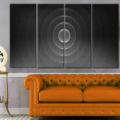 Vector Interstellar Space Background Abstract WallArt Canvas - 4 Panels