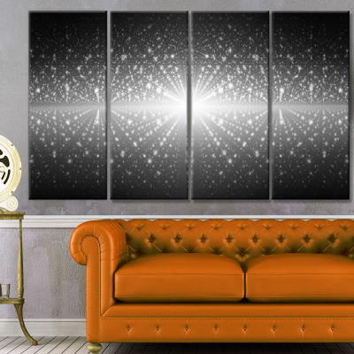 Design Art Cosmic Galaxy With Shining Stars Abstract Wall ArtCanvas - 4 Panels