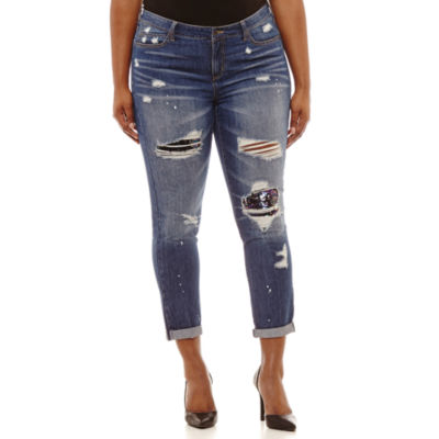 Rewash Skinny Fit Sequin Jean-Juniors