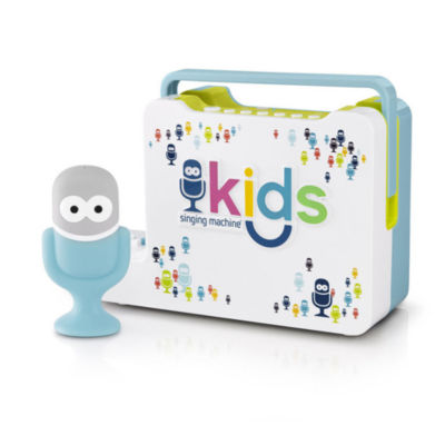 Singing Machine - Kids Portable Bluetooth Sing-Along Speaker with Mic Guy Wired Microphone