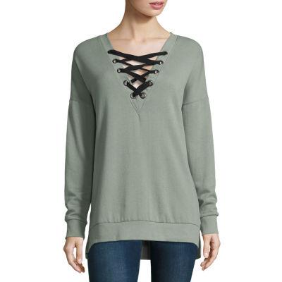 Arizona Lace Up Sweatshirt-Juniors