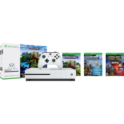 Microsoft - Xbox One S 500GB Console - Minecraft Complete Adventure Bundle