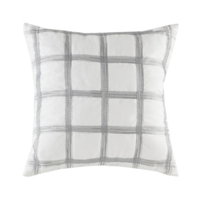 Ink + Ivy Gregory Cotton Embroidered Square Throw Pillow