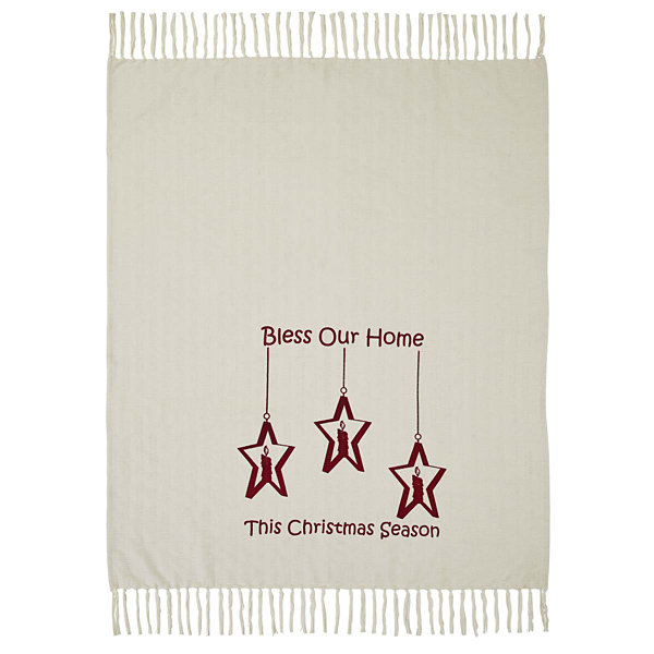 VHC Brands Candle Star Blessings Woven Throw