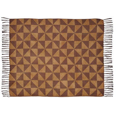 VHC Brands Kendrick Chenille Jacquard Woven Throw