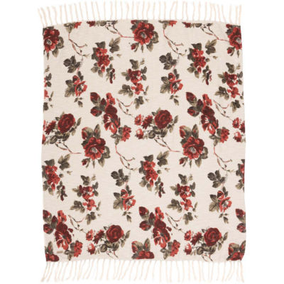 VHC Brands Mariell Printed Woven Throw