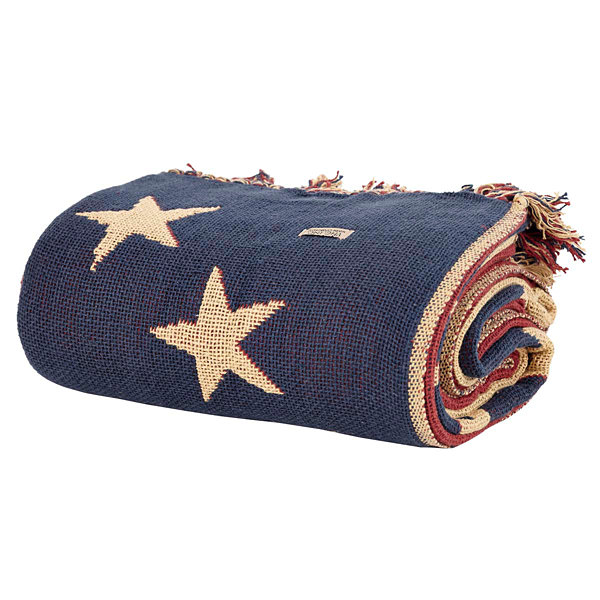 VHC Brands Old Glory Woven Throw