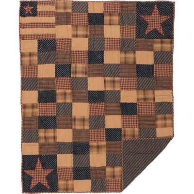 VHC Brands Patriotic Patch Throw