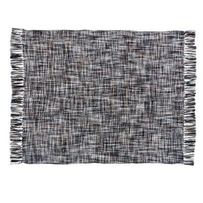 VHC Brands Peppermill Acrylic Woven Throw