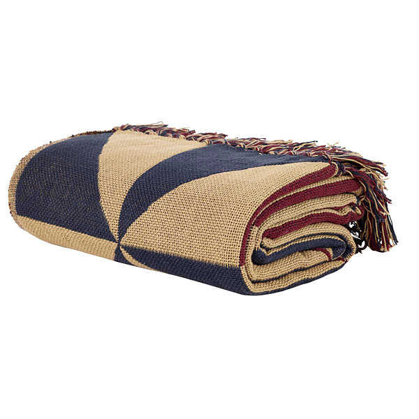 VHC Brands Providence Pinwheel Jacquard Woven Throw