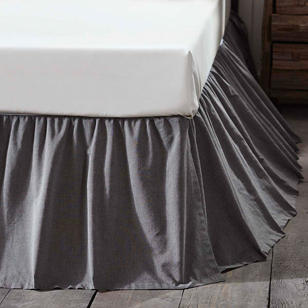 VHC Brands Black Chambray Bedding Accessories