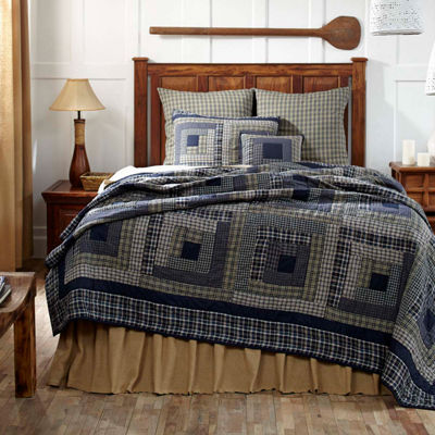 Ashton & Willow Carson Blue Plaid Quilt and Accessories