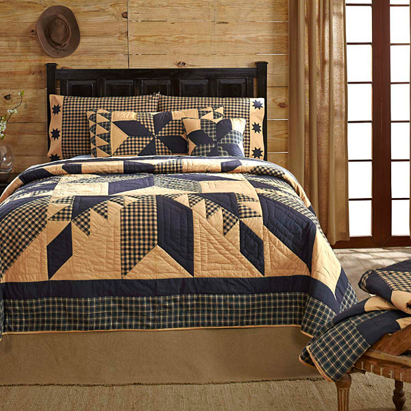 VHC Brands Dakota Star Quilt & Accessories