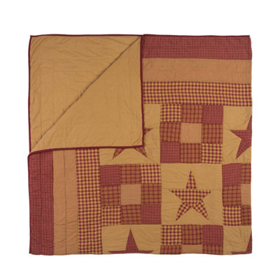 VHC Brands Ninepatch Star Quilt & Accessories