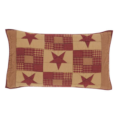 Ashton And Willow Cody Burgundy Star Reversible Pillow Sham