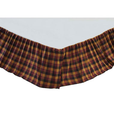 Ashton & Willow Settlement Primitive Check Bed Skirt