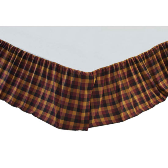 VHC Brands Primitive Check Bed Skirt