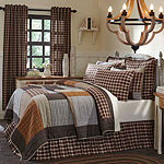 Ashton And Willow Sheridan Rustic Brown Quilt