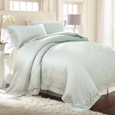 Pacific Coast Textiles 3Pc Cotton Rich Jacquard Comforter Cover Set