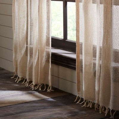 VHC Brands Natural Boucle Window Treatments