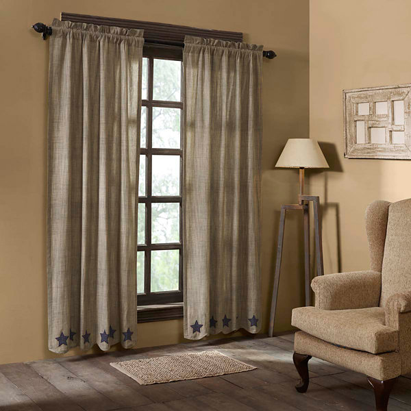 VHC Brands Vincent Scalloped Window Treatments