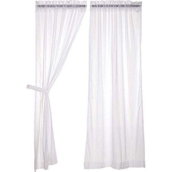 VHC Brands White Ruffled Window Treatments