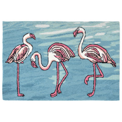Liora Manne Frontporch Flamingo Indoor/Outdoor Rug