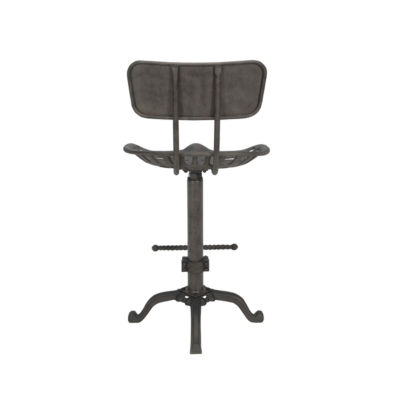 Silas Tractor Seat Counter Stool With Back Rest