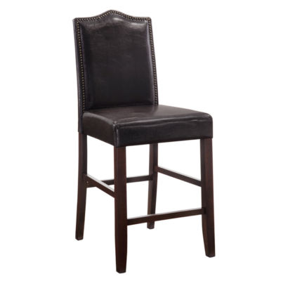 Fairchild Parson Faux-Leather Upholstered Counter Stool