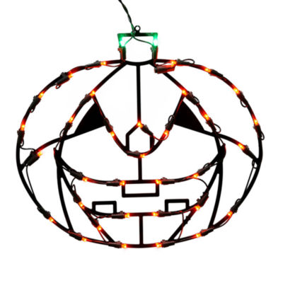 "Vickerman 16"" Pumpkin Wire Silhouette with 35 LED Lights"