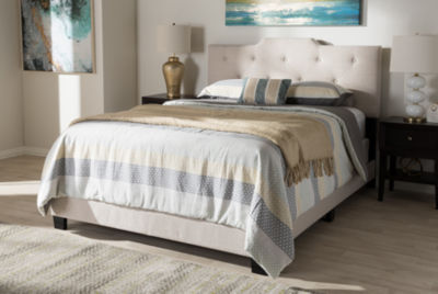Baxton Studio Brunswick Modern and Contemporary Bed