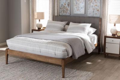 Baxton Studio Clifford Mid-Century Wood Platform Bed