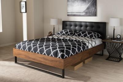 Baxton Studio Mitchell Rustic Industrial Platform Bed