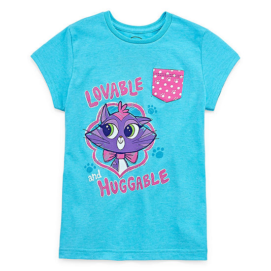 Disney Girls Short Sleeve Puppy Dog Pals Graphic T-Shirt - Big Kid