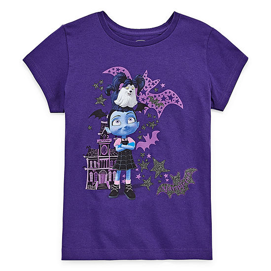 Disney Collection Girls Short Sleeve Vampirina Graphic T-Shirt - Big Kid