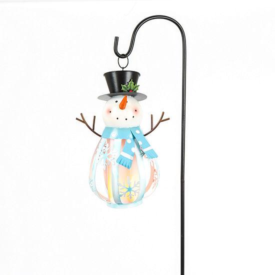 Snowman Head Hanging Holiday Yard Art