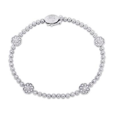 Laura Asley 7/8 CT. T.W. Genuine White Diamond 10K Gold 7.25 Inch Tennis Bracelet