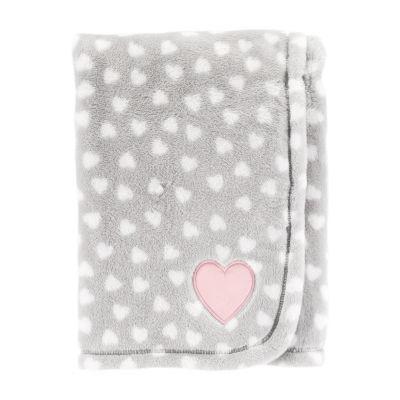 Carter's Heart Print Toss Blanket - Girls