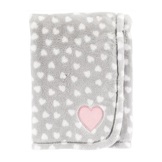 Carter's Heart Print Toss Blanket Blanket - Girls