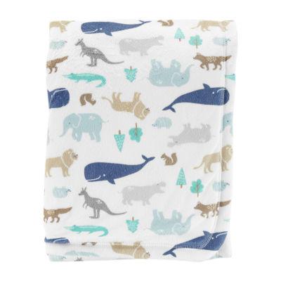 Carter's Critter Print Blanket - Boys