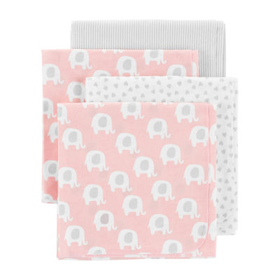 Carter's Heart Print Receiving Blanket - Girls