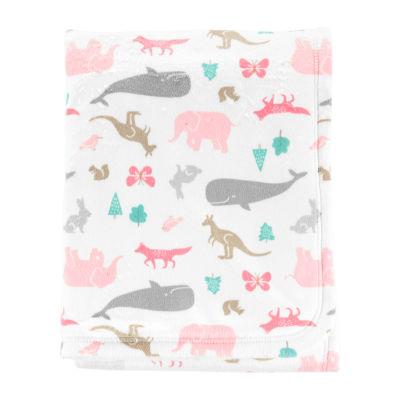 Carter's Critter Print Blanket - Girls