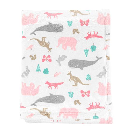 Carters Critter Print Blanket Blanket Girls