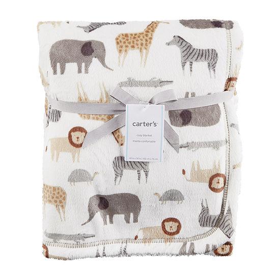 Carters Critter Print Blanket Blanket Unisex