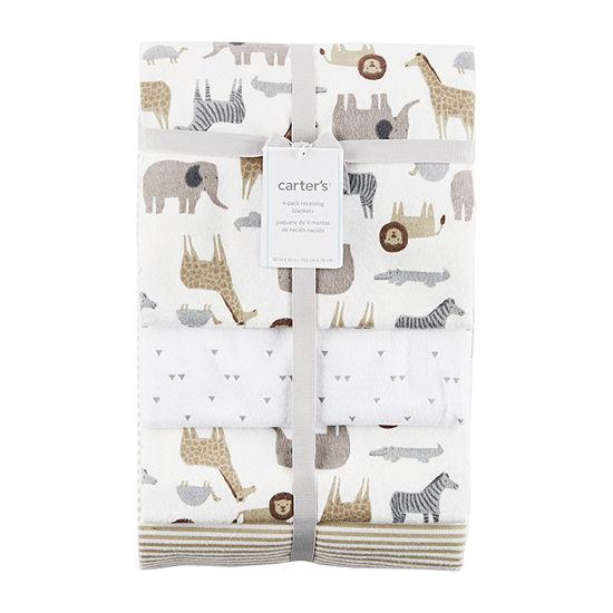 Carter's Critter Print Receiving Blanket Blanket - Unisex