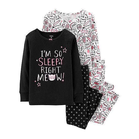 Carter s 4-pc. Pajama Set - Toddler Girl - JCPenney 39e21e3f1