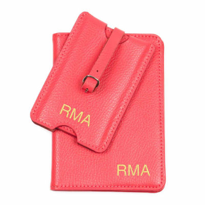 Cathy's Concepts Personalized Leather Passport Holder
