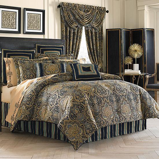 Five Queens Court Palmer 4-pc. Damask + Scroll Heavyweight Comforter Set